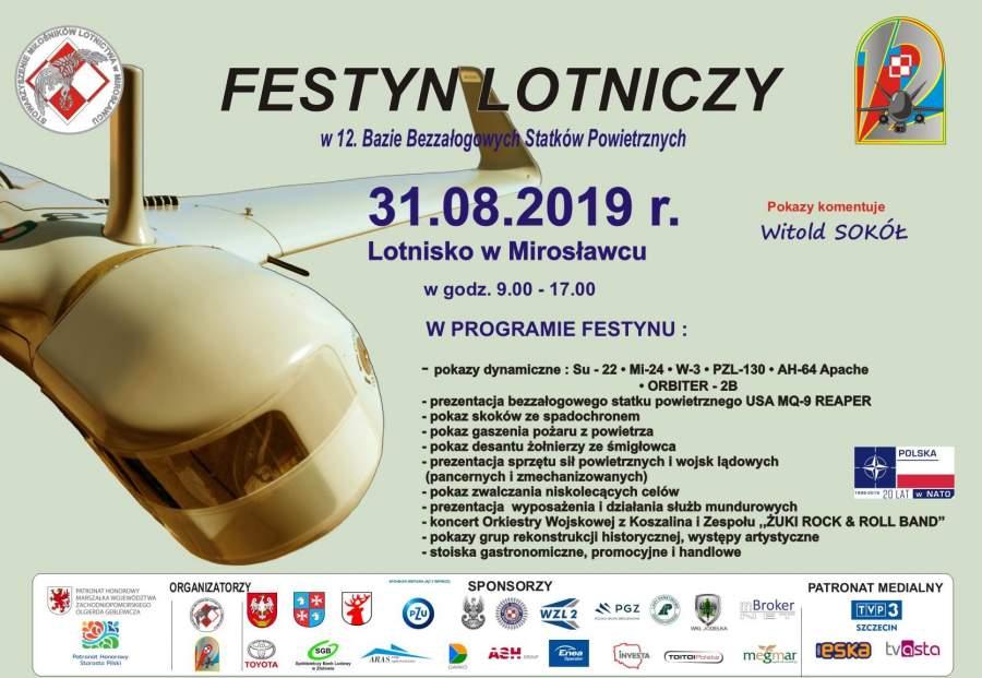 Festyn lotniczy Mirosławiec 2019,